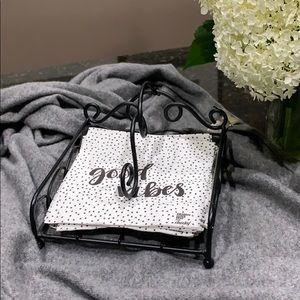 Other - Black wire napkin holder